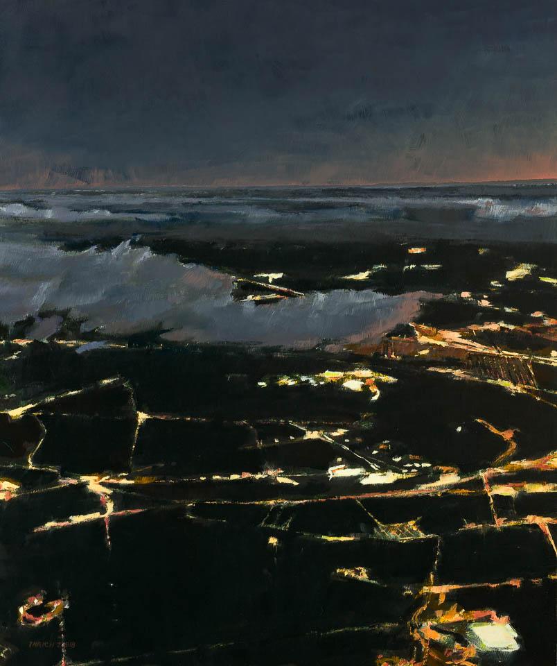 """Cloud 12 PIT  36 x 30"""", Oil on Linen"""