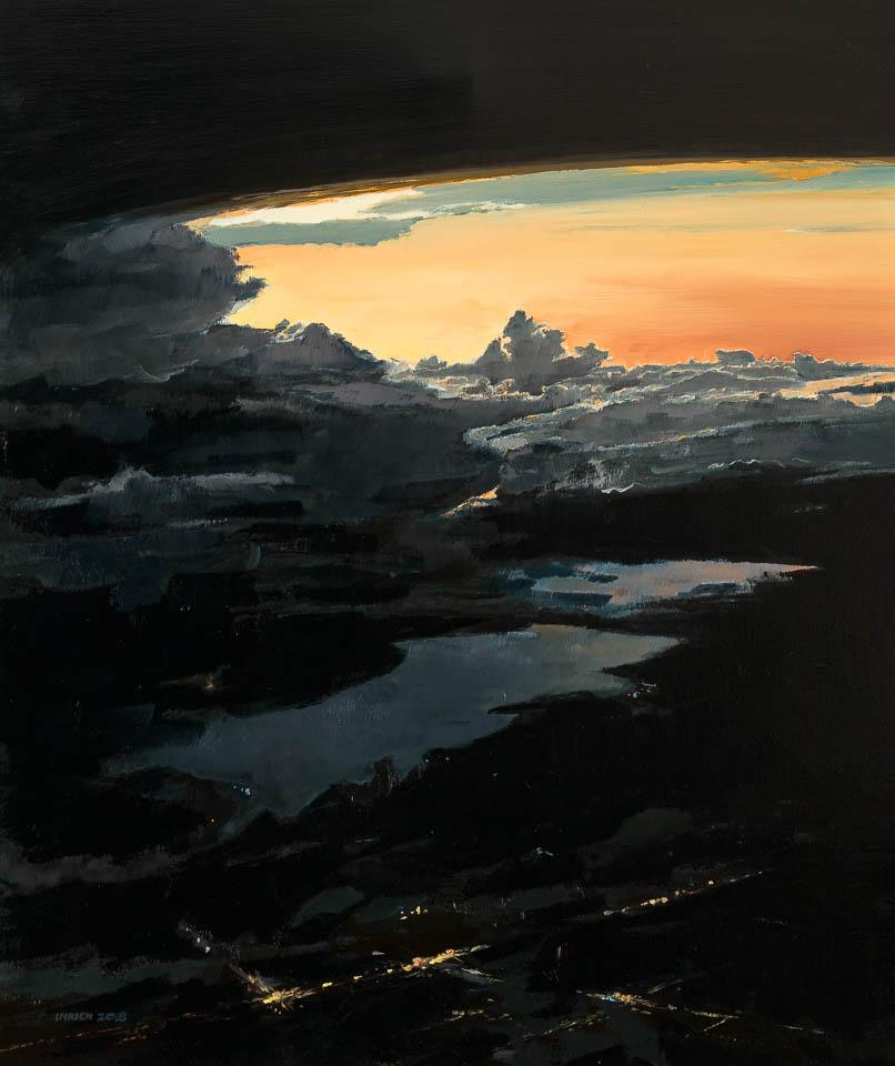 "Cloud 13 TPA  36 x 30"", Oil on Linen"