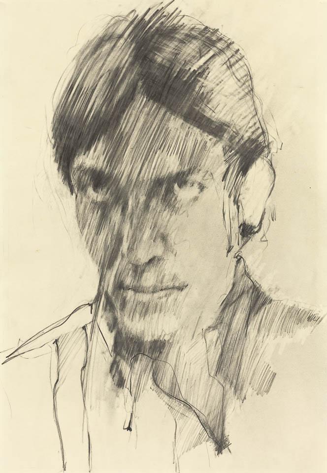 Self Portrait 1973, Graphite on Paper