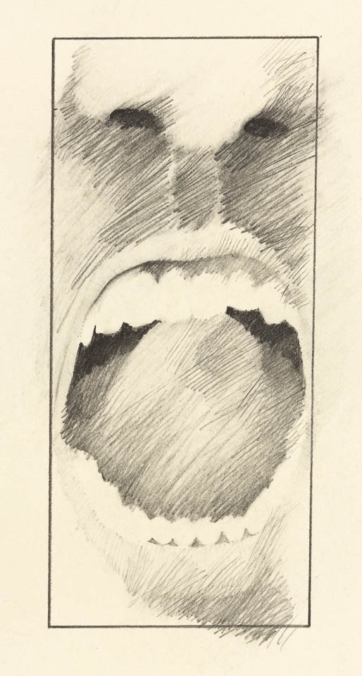 Mouth Study, Graphite on Paper