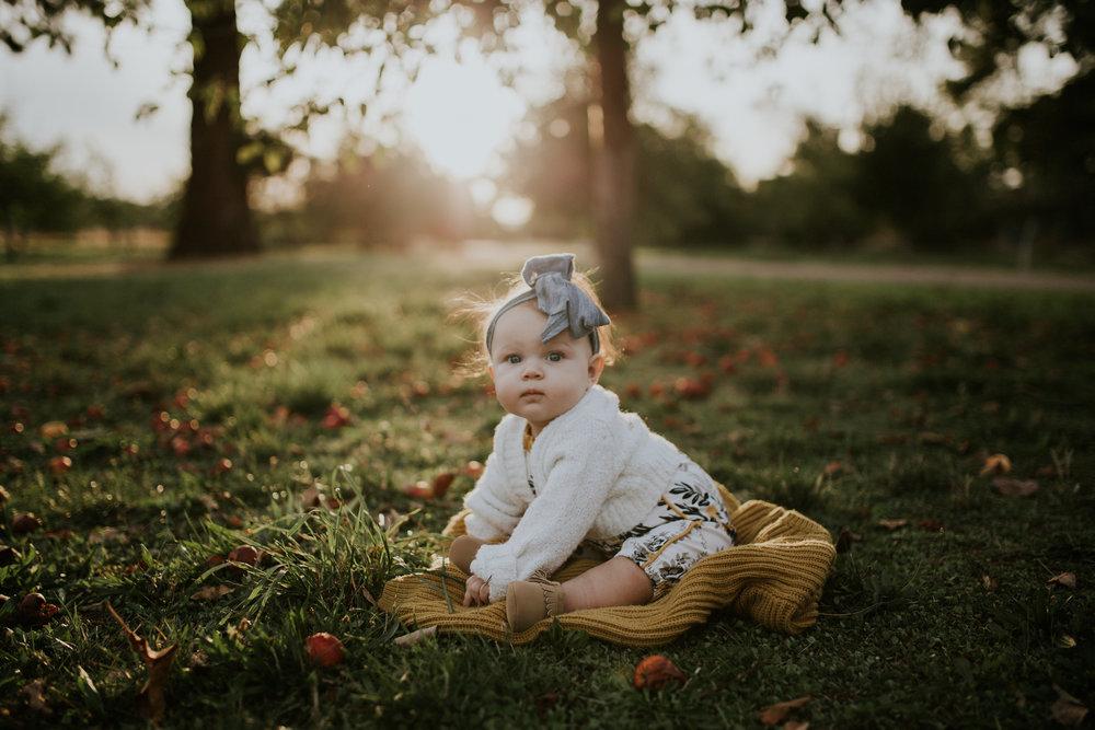 baby apple orchard portland oregon sunset headband photography