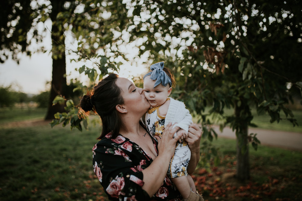 baby apple orchard portland oregon sunset mommy and me photography