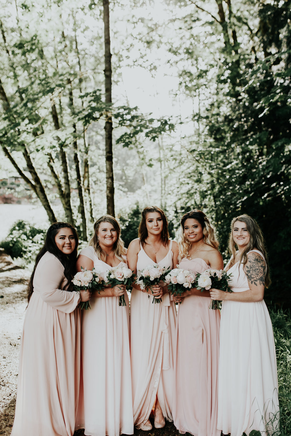 ramirez wedding portland oregon hornings hideout rain moody trendy bridesmaids