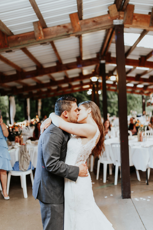 ramirez wedding portland oregon hornings hideout rain moody trendy kiss first dance