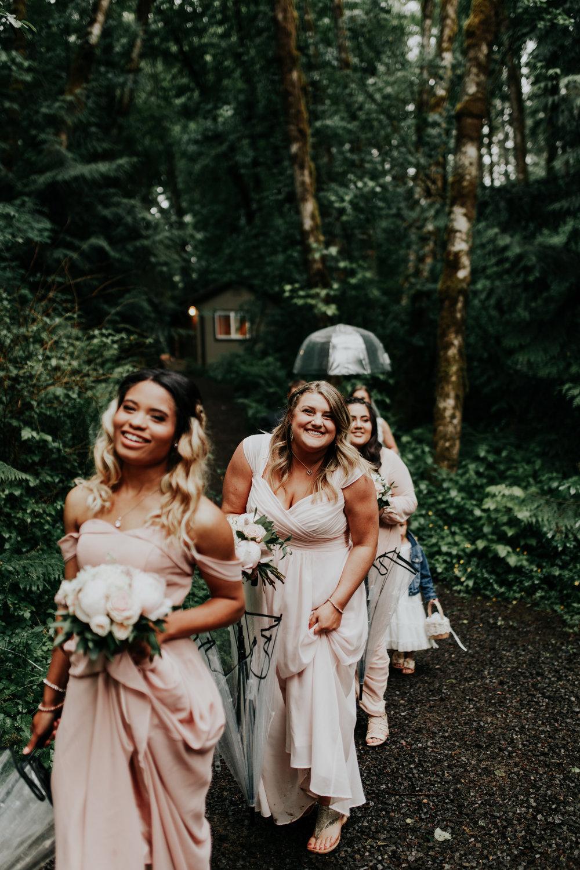 ramirez wedding portland oregon hornings hideout rain moody trendy bridesmaids