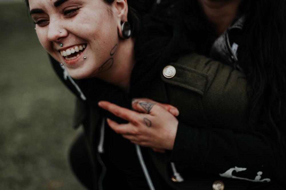 tattooed couple portland gorge lesbian lgbtq adventurous