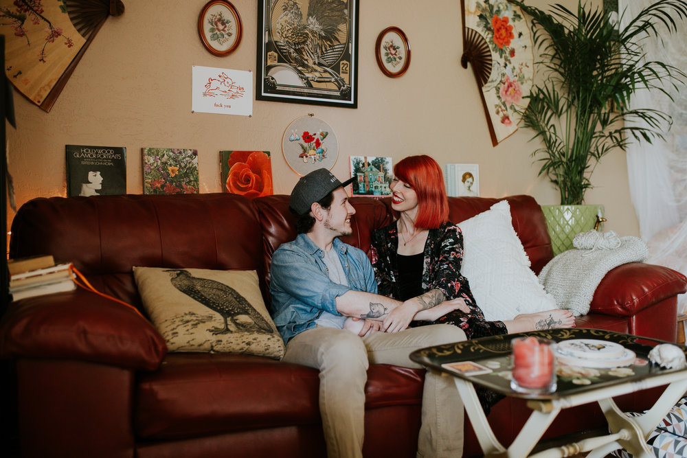 In home couples session in Salem Oregon Portland Photographer Jamie Carle