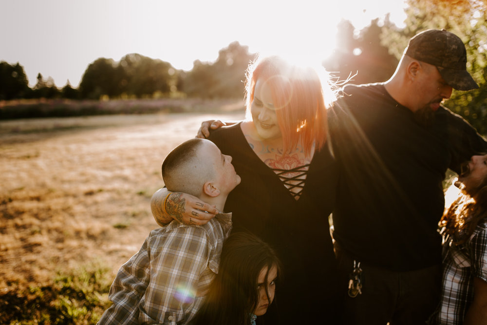 fort vancouver family photography session kids golden light washington