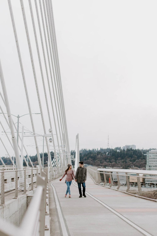 kyle and noon 90 day fiance tlc couples session portland oregon tillikum bridge crossing omsi eastback esplanade dock winter cloudy overcast reality star wedding photographer jamie carle