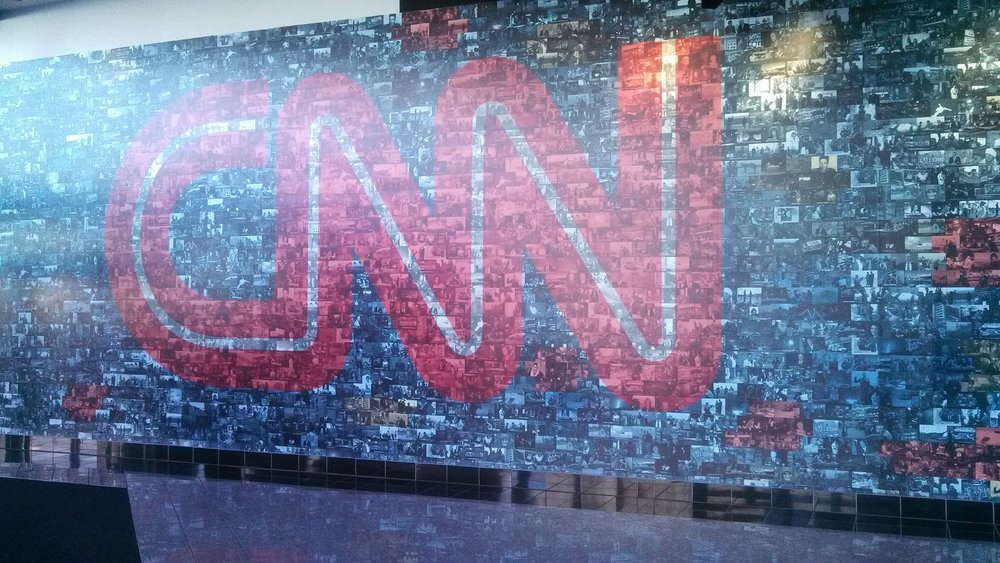 The lobby of the CNN building in Atlanta, GA