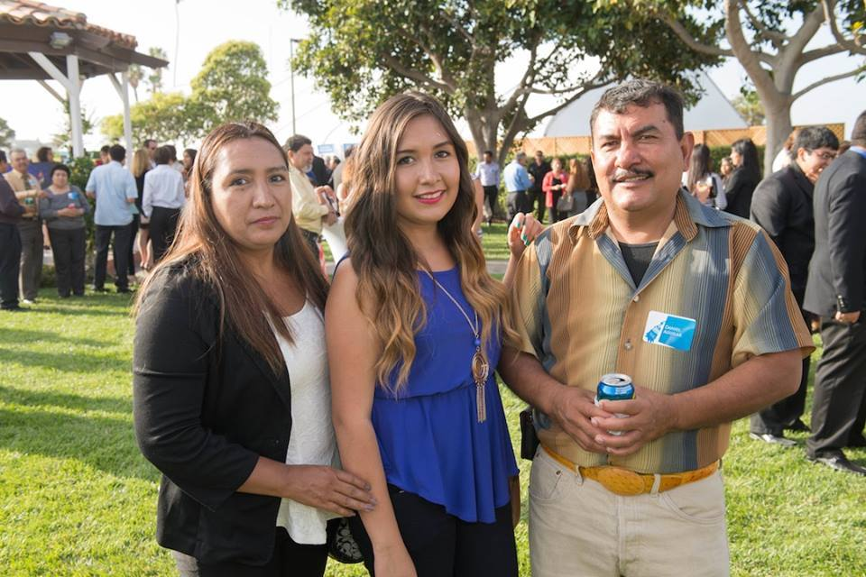 2014 NAC graduate, Jocelin Aguilar and her family attending