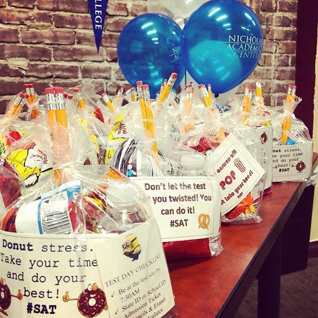 "The Nicholas Academic Centers' Class of 2019 will be taking the SAT tomorrow! The Nicholas Scholars from each of the three centers were provided with goodie bags with test taking ""essentials"" and quotes of encouragement to get them through the day. Make us proud! . . . . . #HigherEducation #NACenters #CollegeBound #iamSAUSD #HTNFoundation #HenryTNicholas #HenryNicholas #NACScholars #NicholasScholars #NAC10thAnniversary"