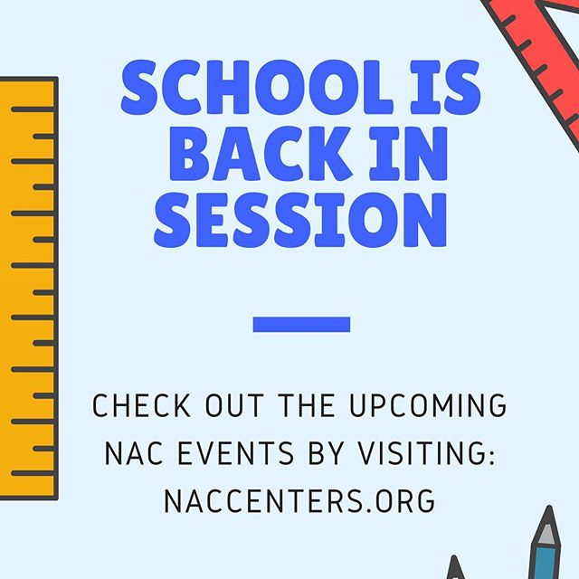 School is back in session! Check out the upcoming NAC events by visiting the website at naccenters.org. We wish the Nicholas Scholars and alumni continued success!