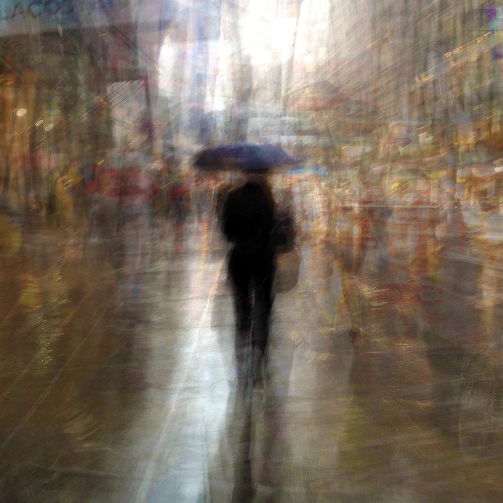 """תמיר קרתא, Follow Series ] Rain on Broadway ] הדפס דיגיטלי, 60X60 ס""""מ, 2014"""