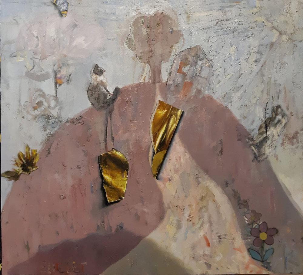 אמיר שפט, ציור של גבעה, שמן על בד, 2019   צילום באדיבות האמן