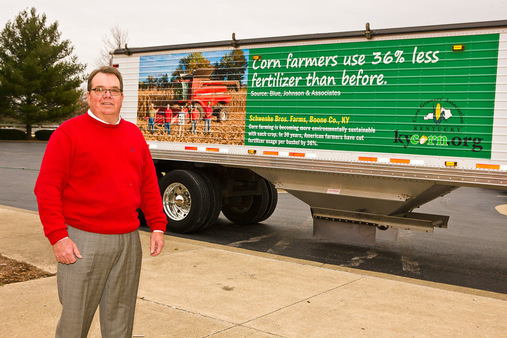 Grain Truck Promos - Farm families were featured on their grain trucks to share important production facts with motorists.
