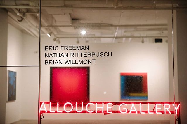 Last night's 3 Person Show at @allouchegallery featuring the work of @nathanritterpusch, @brianwillmont and @etf70