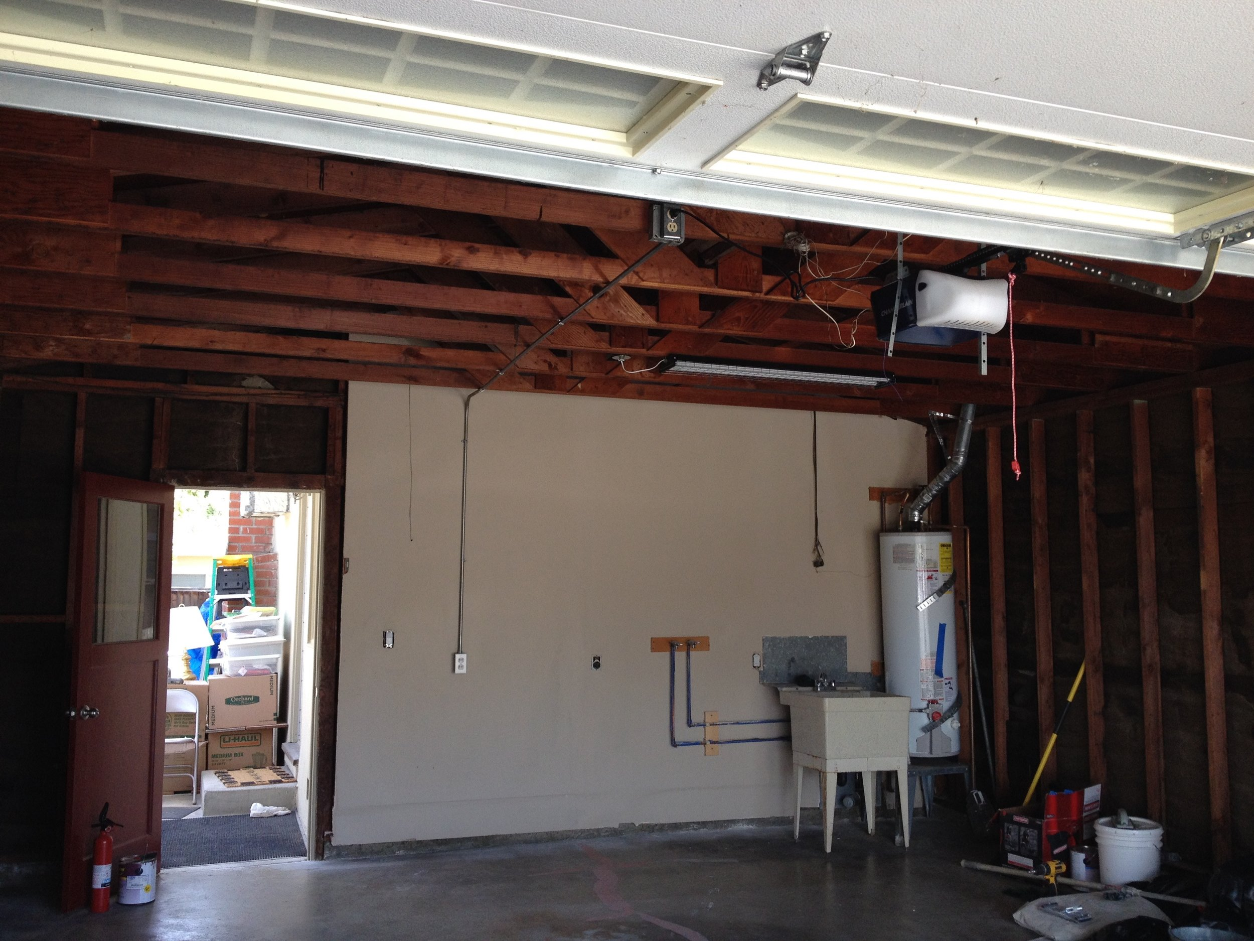 "During Kapowich Transformation of The often ""Forgotten"" Garage!"