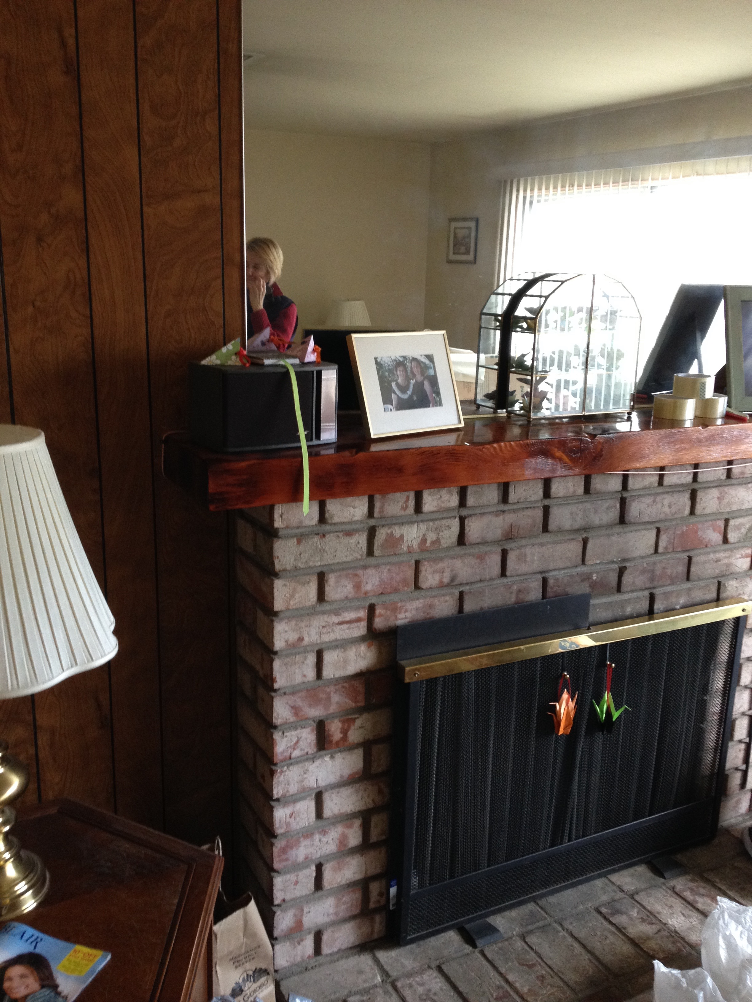 Before Transformation of Kapowich Listing Fireplace
