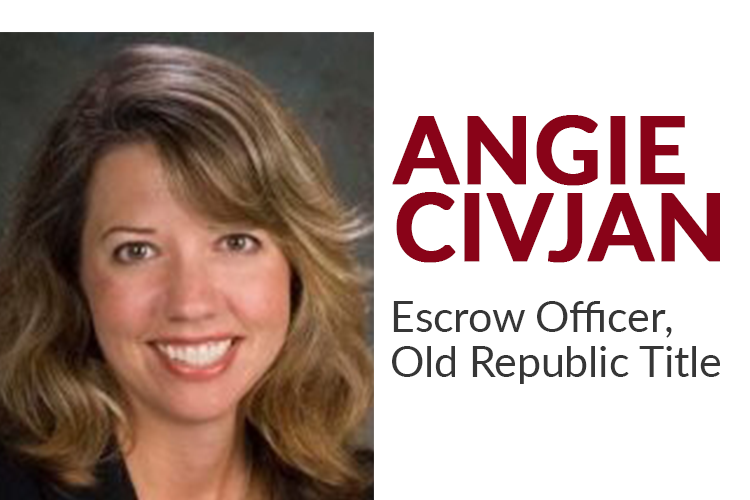 Angie is an escrow officer at Old Republic Title Company in Palo Alto. She has over 30 years of experience as an escrow officer throughout California, specializing in refinance, re-sale, short sale, and REO property transactions.