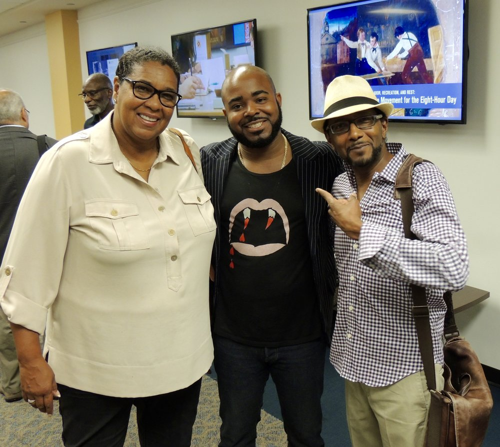 Donna Foster, Programs Director, Prince George's Film Office, Yours Truly, Pierre Walcott, President/CEO, Creative Edge Collaborative