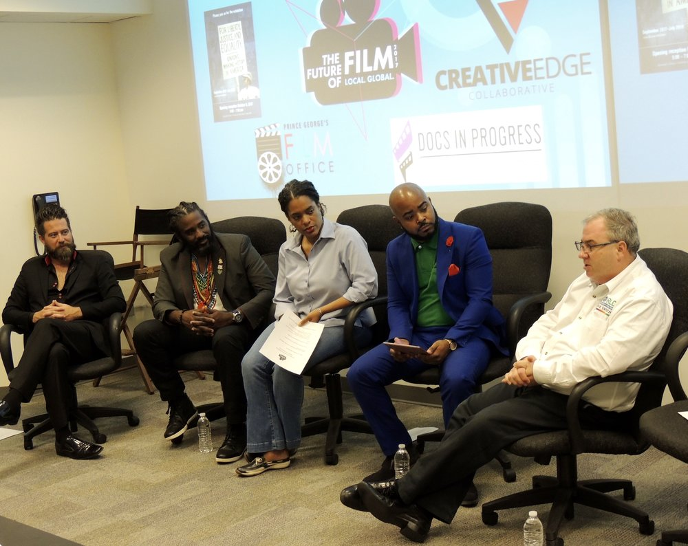 Creative Commerce Panel (L-R): Ian Fay, The Lookout, Teo Melchishua Williams, Visual Jazz, Michelle Darden Lee, Gateway Media Arts Lab, Robert Wolgamotti, World MediaNet Studios #THESWITCH