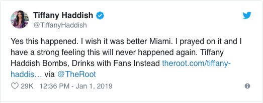 Haddish tweets her disappointment in herself