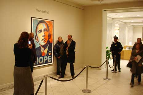 Barack Obama/ By Shepard Fairey, 2008 / National Portrait Gallery, Smithsonian Institution