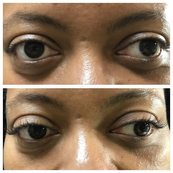 Eyelash Extension Before & After