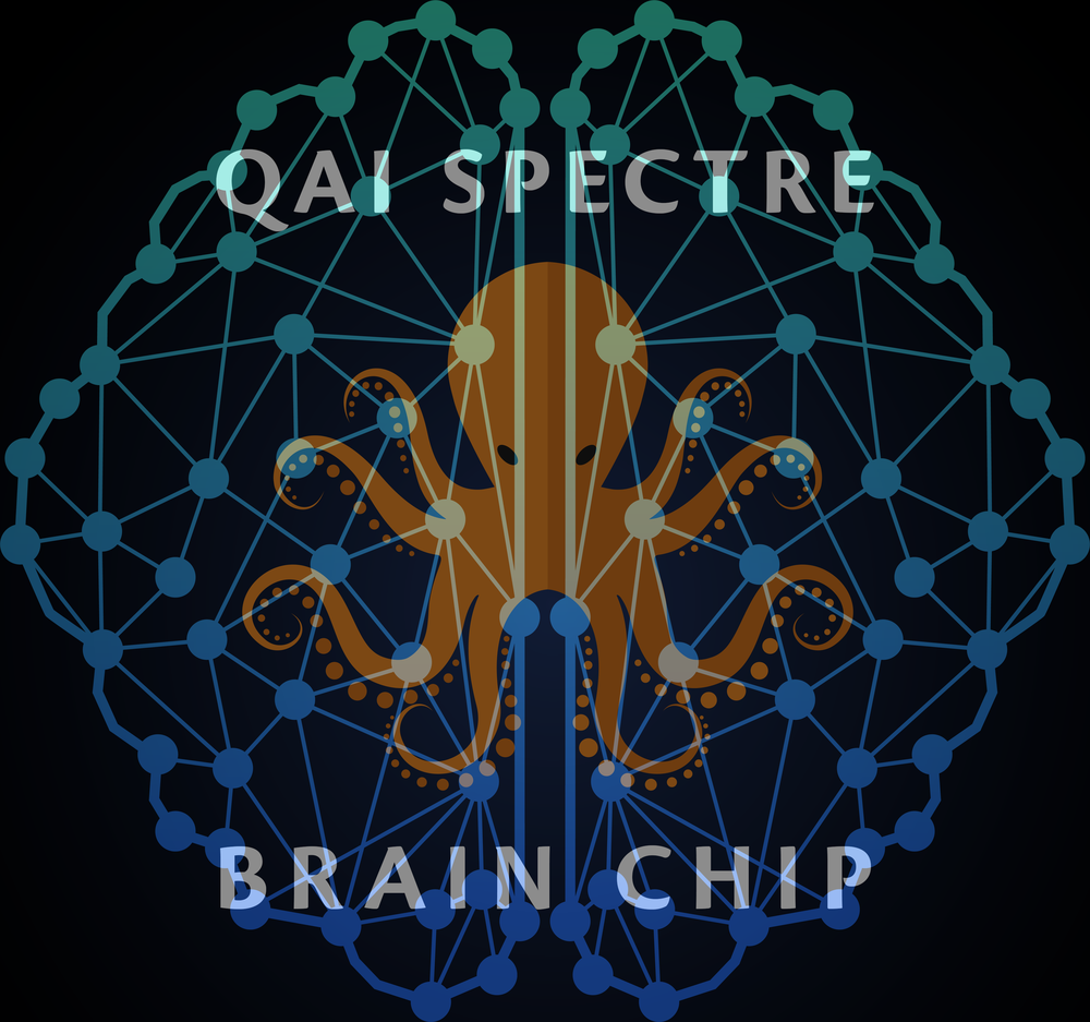 QAI SPECTRE ™  BRAIN CHIP - Is a revolutionary analog recurrent neural network reinforcement learning multi-chip module that transcends current P-Space reducible digital and quantum computing machine learning systems with super Turing processing. QAI SPECTRE ™  BRAIN CHIP enables adaptive AI for applications in robotics and AI systems that wish to move beyond narrow AI.