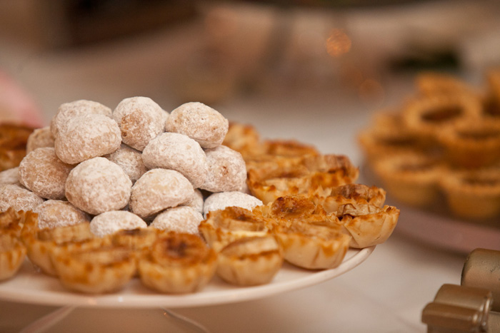 Bananas Foster Tartlets & Mexican Wedding Cookies