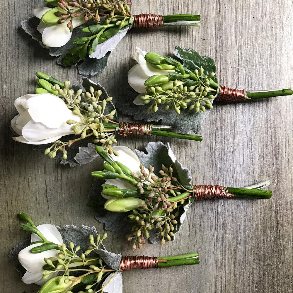 Spring Freesia Boutonnieres