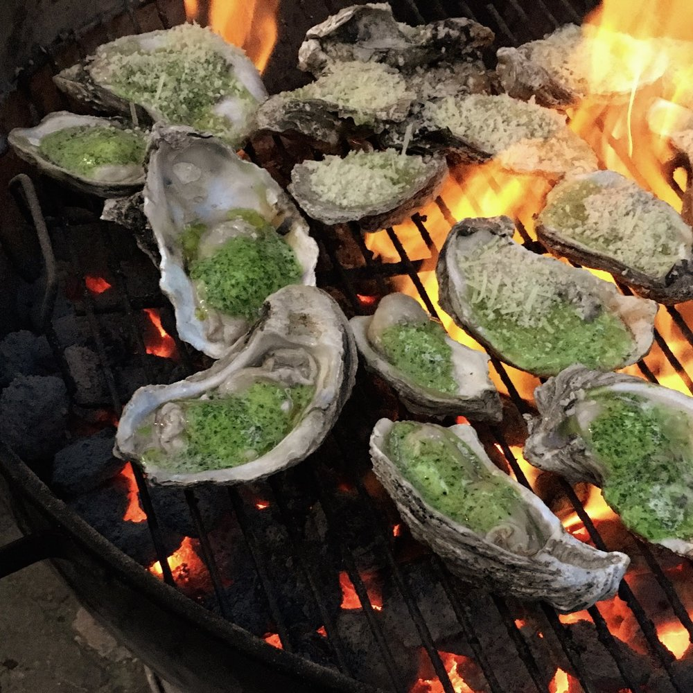 Chargrilled Oyster Station