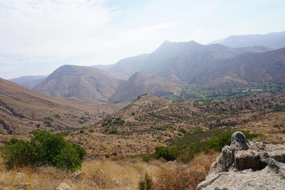 Vast,mountainous landscape