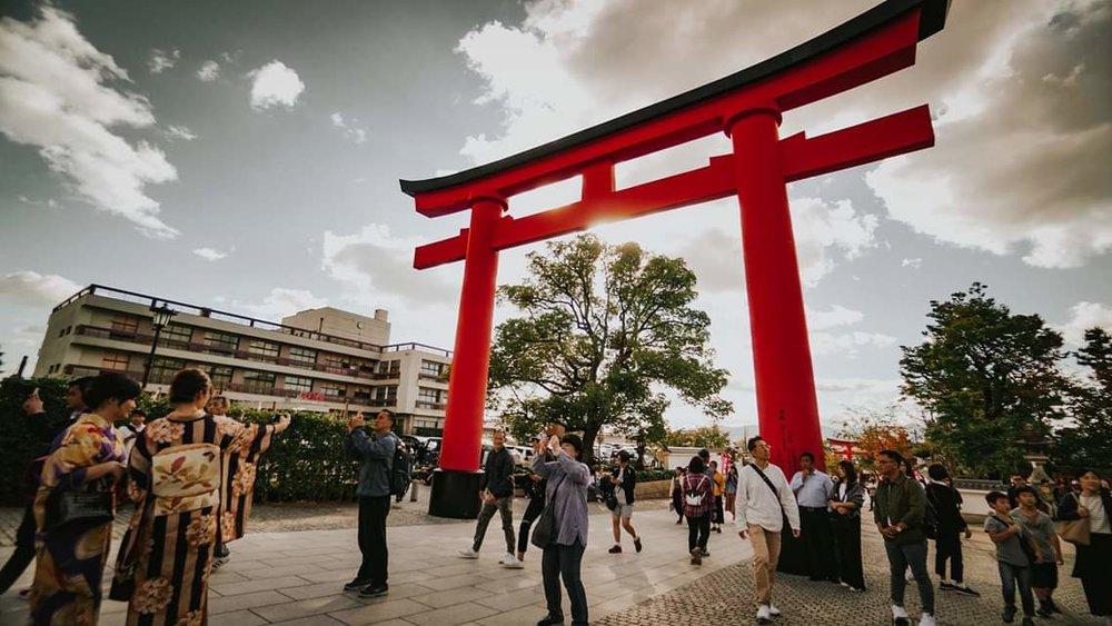 Entrance shrine to Fushimi Inari Taisha