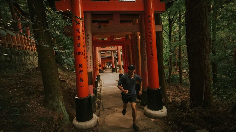 Running to the top of Mt. Inari!