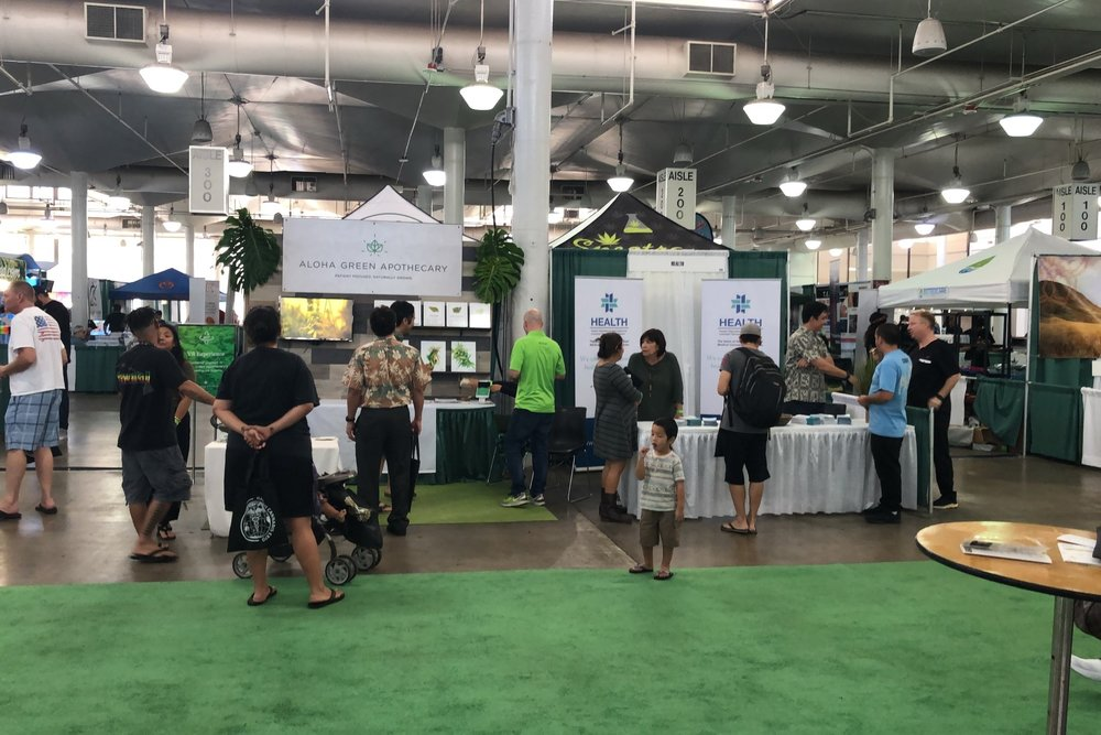 The Hawaii Cannabis Expo was held in Honolulu at the Blaisdell Center.