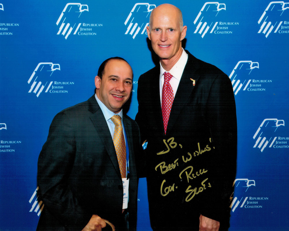 JB with Florida Governor Rick Scott