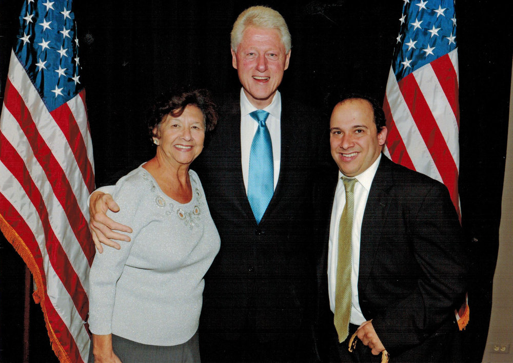 JB with President Bill Clinton