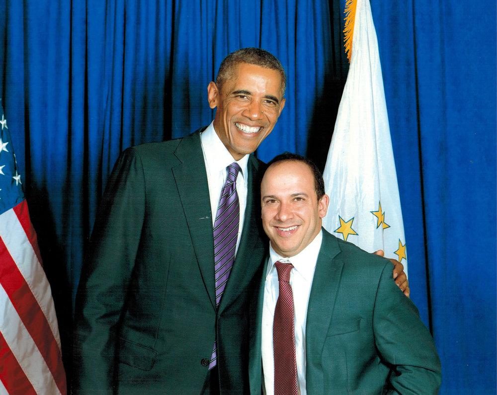 JB with President Barack Obama