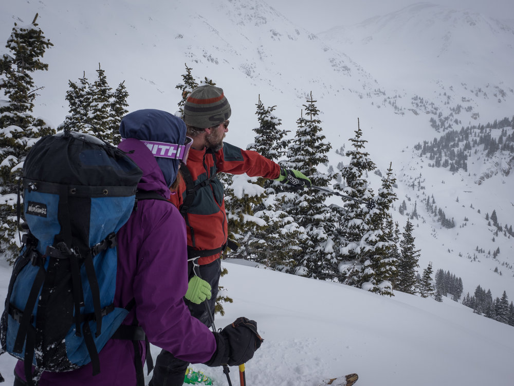 Studying the line-- A Day in the Backcountry