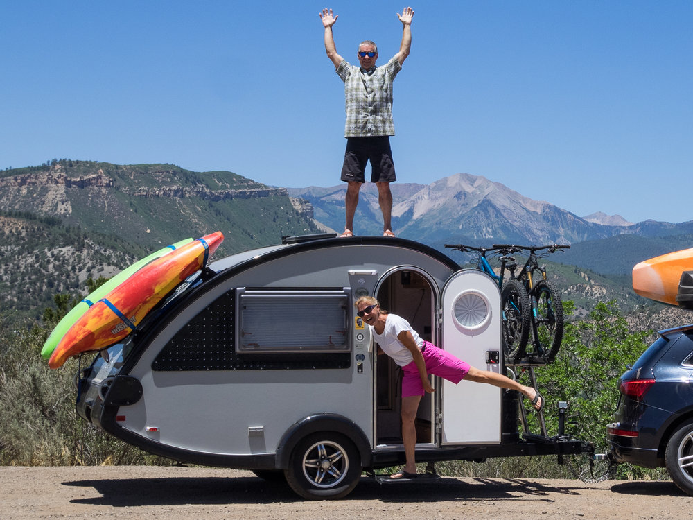 Earl and Glenna loaded for a summer of adventure in their home away from home-- photo courtesy of the LC