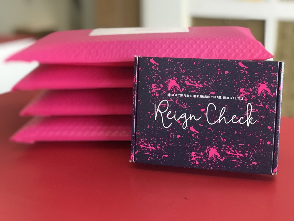 reign check - T-shirt Care Package for Women Affected by Breast Cancer