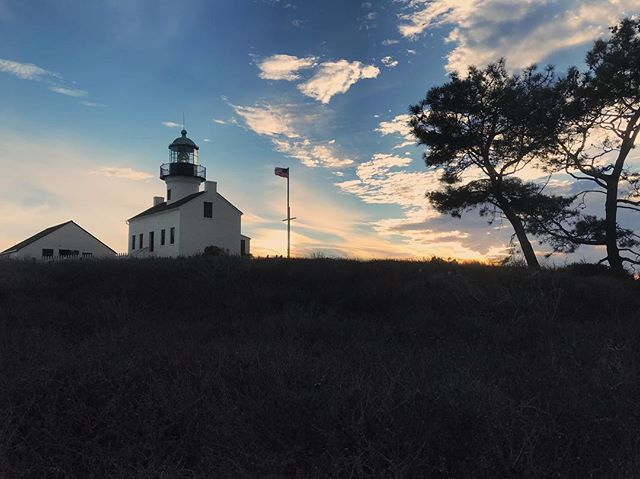 Visited this lovely spot with my brother this weekend and now we both want to be lighthouse keepers. 🌅🌅🌅 #aesthetic #lighthouse #pointloma #veteransday #beauty #sunset #damn #graphicdesign #webdesigner #squarespace #webdesign