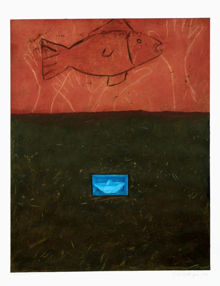"Nuestra Fosa Común, 2004, acrylic/paper 42""x35"""