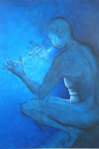 """Soplo de Amor, 2004 Acrylic/paper 50""""x39"""""""