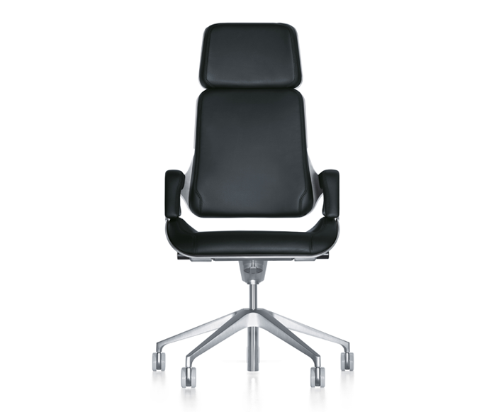 Silver/ high executive chair From Tieringen, Germany. By interstuhl design_Hadi Teherani.  Performance and prestige.