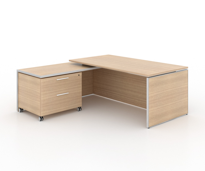 "Potenza Deluxe Executive | L- Shaped Desk Laminate top - Size: 78"" W x 75"" D x 29"" H /Price List: 2,345 