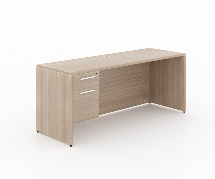 """Start-Up /Basic office desk with box file pedestal - Size: 66'' W x 30'' D x 29"""" H + 1 Box-File PedestalSpecial price: $ 358 *(No Tax Included)"""