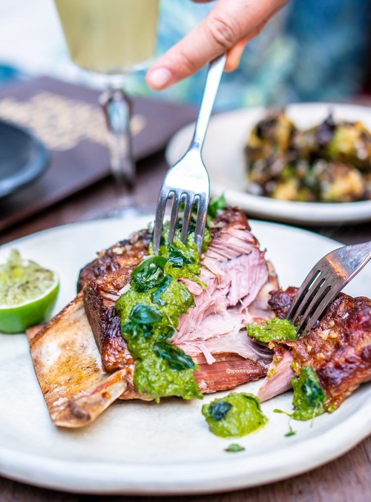 BBQ Lamb shoulder, Argentinian Chimichurri  Photo: Jason King, Spooning Australia